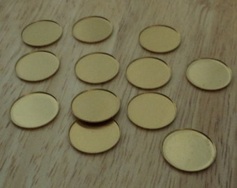 18mm brass round low wall  bezel cup settings 12 pcs