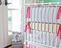 25% OFF SALE!!- Lacey Rose Coral & Aqua Baby Bedding