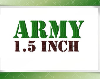 Army simple  Embroidery design Font, Monogram