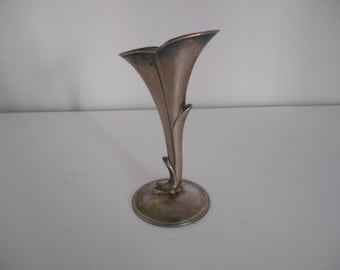 Vintage Art Nouveau silver plate candle holder