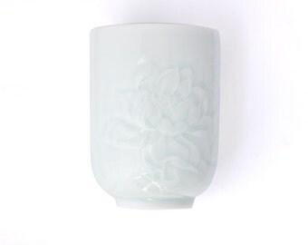 Delicate Porcelain Lotus Mug - JingGu Fine Porcelain