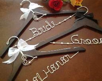 Bride, Groom and Maid of Honor Set of 3
