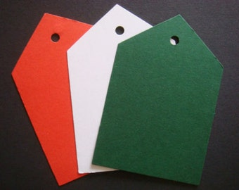 10 large Blank Christmas Gift tags ready for Decoration - Great size for decor *make your own tags*
