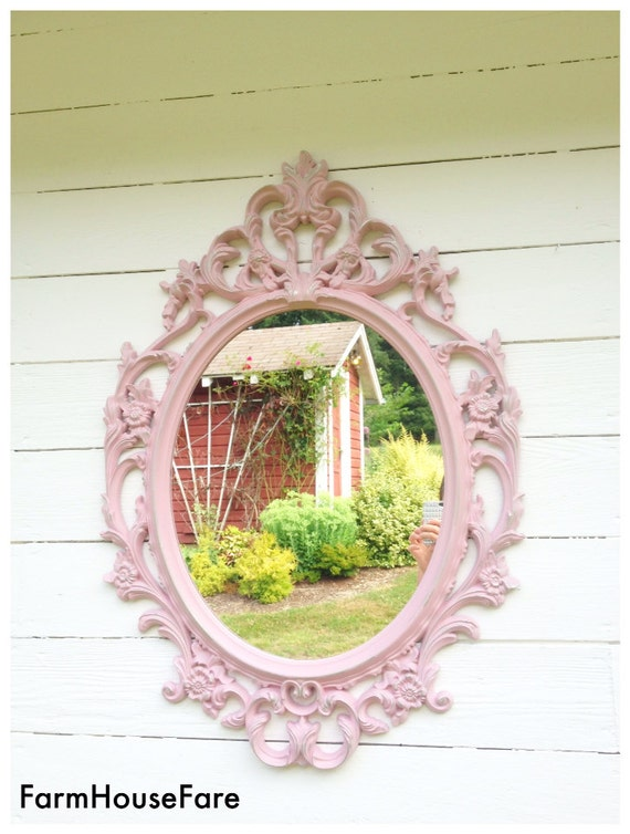 pink nursery mirror shabby chic bathroom mirror decorative 20338