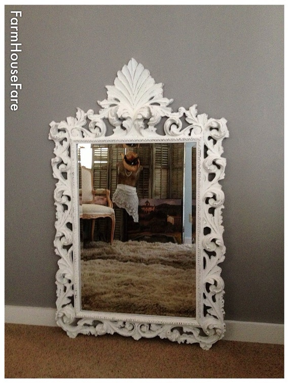 Large ornate shabby chic mirror for sale baroque by Large wooden mirrors for sale