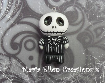 Jack Skellington The Nightmare Before Christmas, Jack Skellington charm, Jack Skellington keychain, The Nightmare Before Christmas Jewelry