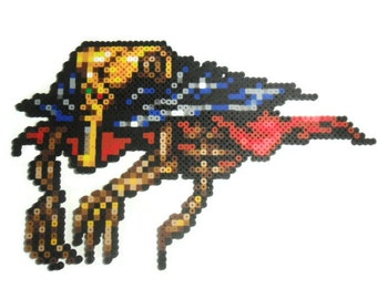 Final Fantasy 6 Perler bead sprite of Zoneseek - video game art - perler bead art - bead sprite - super nintendo - snes - ffvi