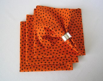 XL Halloween Fabric Napkins - Reusable Cotton Napkins, Dinner Size Cloth Napkins, Eco Friendly Napkins, Table Linens - Set of 4 Napkins