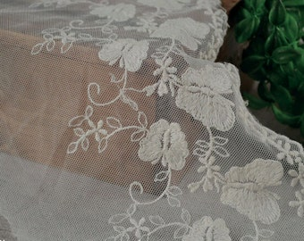 white butterfly Lace trim