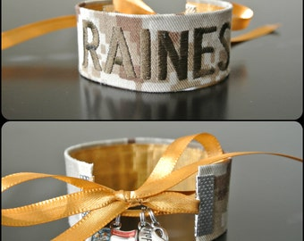 Marine - Personalized Name Tape Bracelet