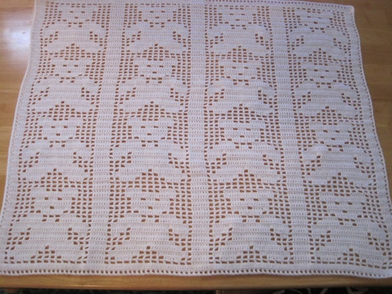 Free Teddy Bear Filet Crochet Afghan Pattern : Teddy Bears on Parade Filet Crochet Blanket 32 by ...