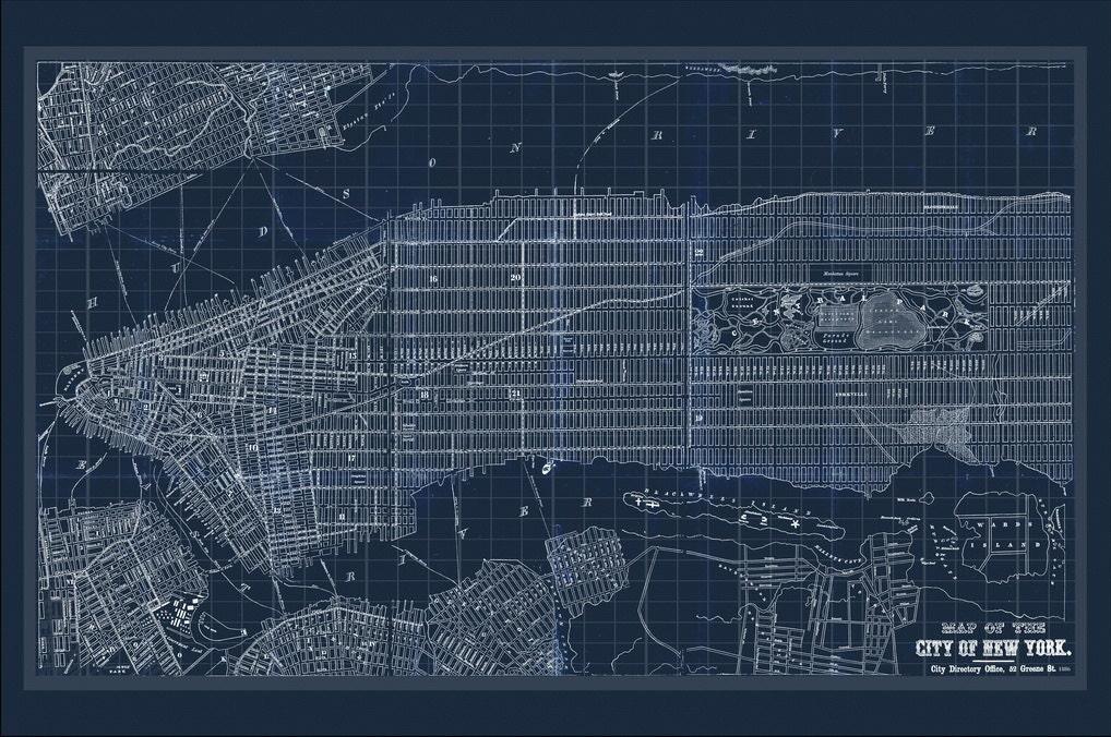 New york map map of new york manhattan map blueprint map nyc mondomappa malvernweather Image collections