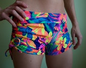 Sweet Cheeks shorts with Side Drawstring (Tropic Blast)