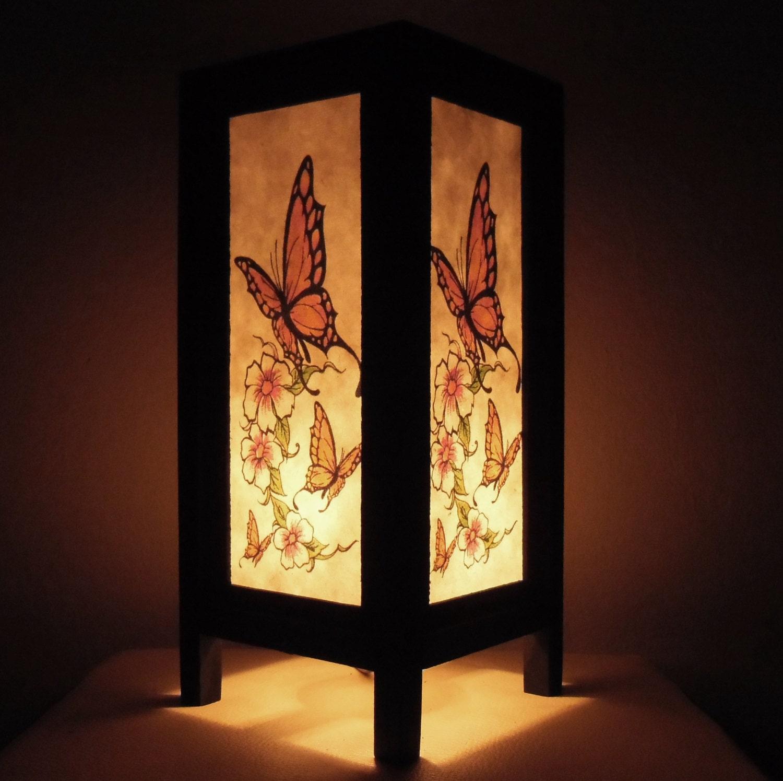 Lampe De Table Decor Papillon