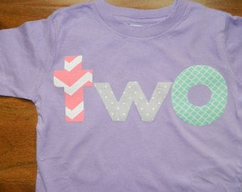 Toddler Girl 2nd Birthday Shirt, Toddler Birthday Shirt, Pink Chevron Birthday Shirt