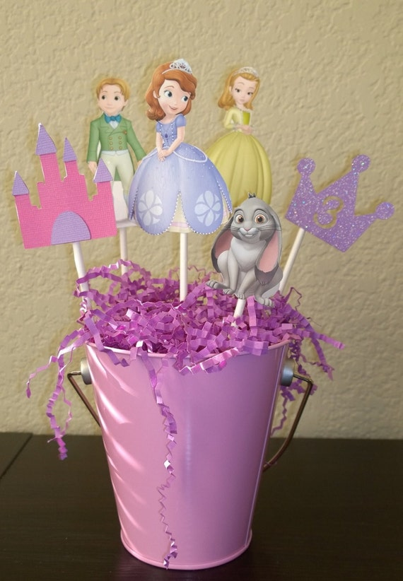 Princess Sofia Centerpiece, Sofia The First Centerpiece, Sophia The First, Birthday Centerpiece