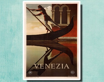 VENICE Italy - Vintage Italian Travel Poster by A.M. Cassandrei 1951 - SG2373