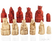 Isle of Lewis Chessmen, NEW LISTING, 1:1 Replica, Walking Dead, Harry Potter Chess Set, British Museum Set