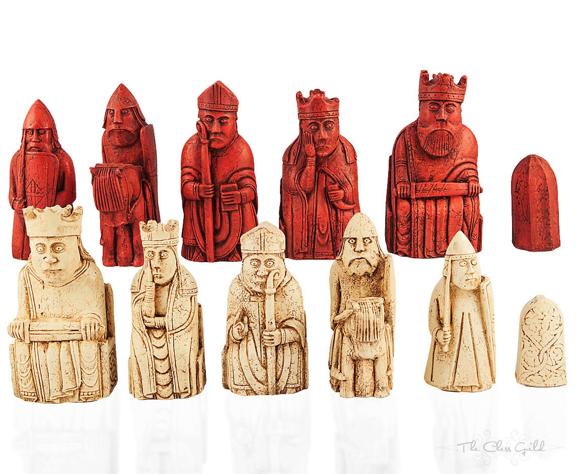 Isle of lewis chessmen new listing 1 1 replica walking - The chessmen chess set ...