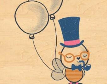 13DOTS Bee Maple Veneer Post Card
