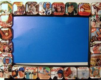 Baseball Glass Tile Frame