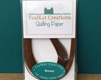 Brown Quilling Paper