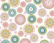 Quiltsy Destash Party Riley Blake Penny Lane Floral Circles Fabric
