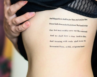 Boondock Saints' Prayer Temporary Tattoo