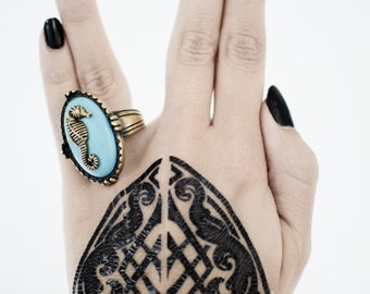 Tribal Baroque Hand Tattoo
