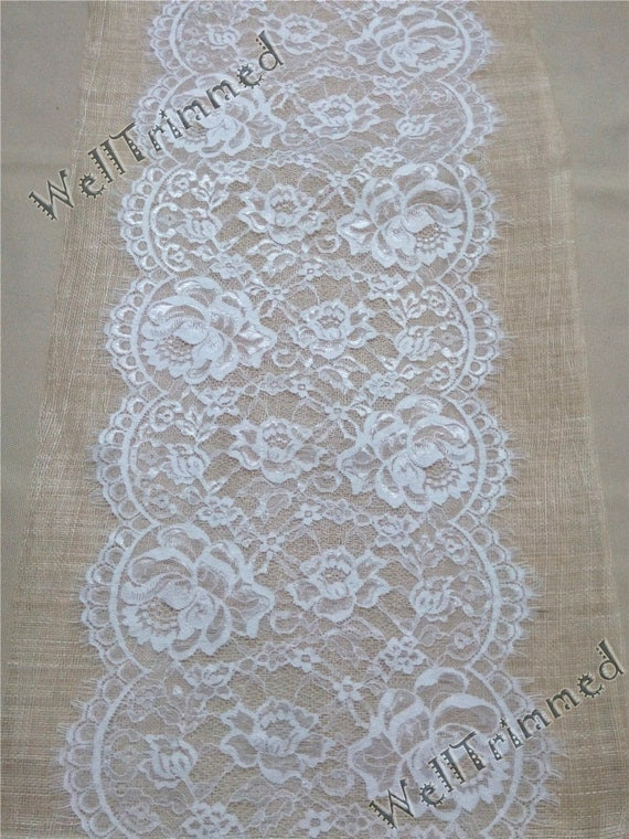 wedding table runner 10ft lace runner 12 wide lace table runner