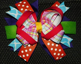 Multi-Colored Stacked Bow