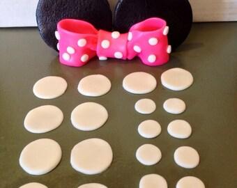 Edible Fondant Minnie Mouse Caketopper