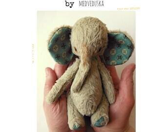 Elephant pattern 7 inch by Medveduska