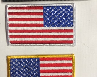 Two US Flag Patches one chest and one sleeve patch