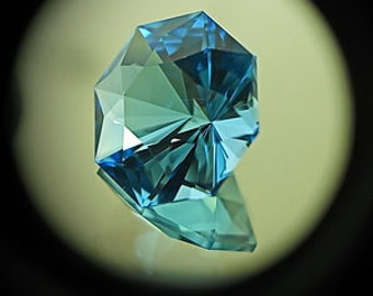 Blue Topaz | 6.85ct | Precision Cut| Dazzling Octagonal Stone Design Is Followed By Lower Type Spark Going Around The Stone