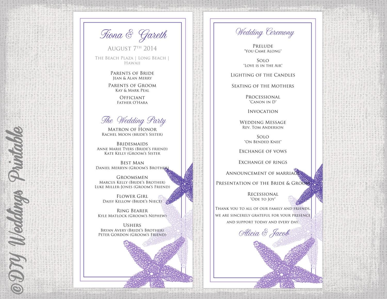 free wedding ceremony templates
