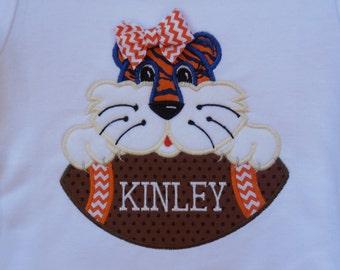 Auburn shirt,  Girl Tiger on Football