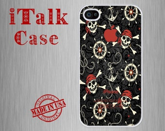 iPhone 4 Case, iPhone 4S Case, iPhone 4S Cover, iPhone 4/4S skins, iPhone 4/4S Protective Cover, iPhone 4, iPhone 4S - Skulls & Anchor