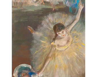 Degas - Danseuse, Fin d'Arabesque ballet beautiful fine art print in choice of sizes