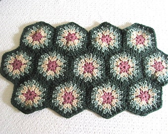 Kitchen Placemat, Crochet Doily Granny Squares Home Decor gift for her