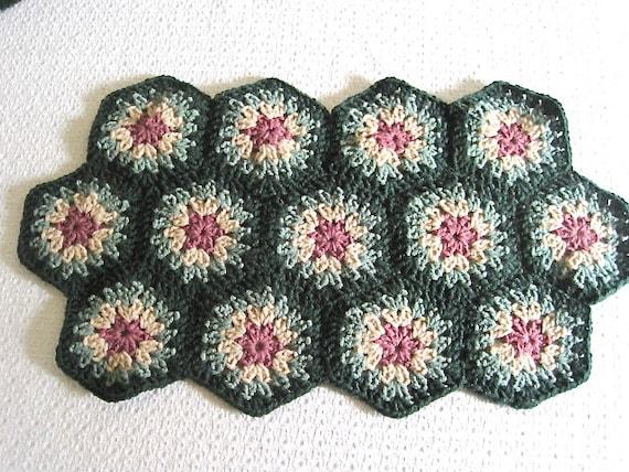 SALE! Kitchen Placemat Crochet Doily Granny Squares Home Decor gift
