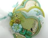 US heart shape canvas mini album