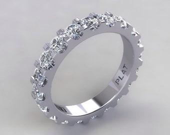 PLATINUM Diamond Eternity WEDDING BAND FSi1 Round Diamonds 2.42cttw Engagement Ring Anniversary Ring Band Wedding Ring