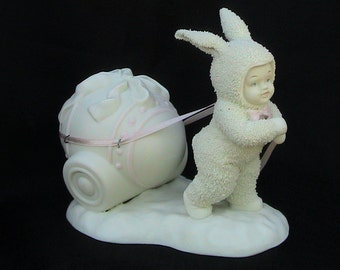 Dept 56 Easter Snowbunny Porcelain Bunny Collectible Home Decor Bunny Collection