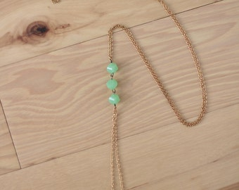 Triple Mint // Pull Through Necklace