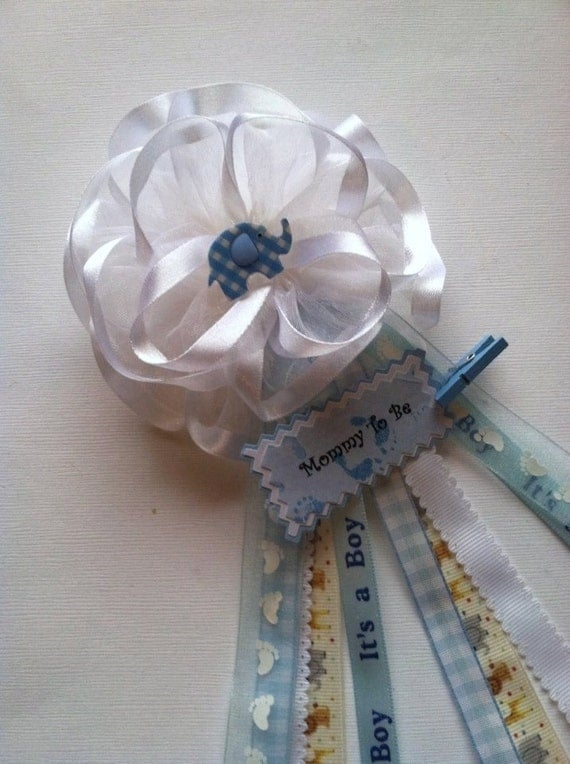 mommy to be baby shower corsage safari elephant theme baby shower