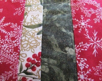 Beautiful handmade quilted Christmas placemats.