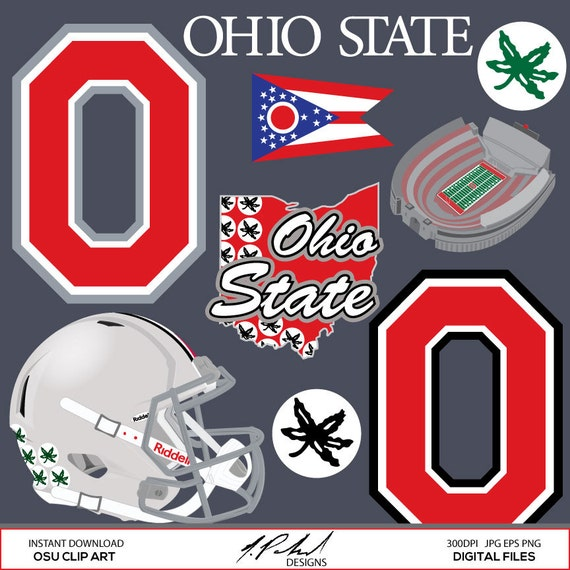 OSU clip art by Nathan Poland at Etsy.com