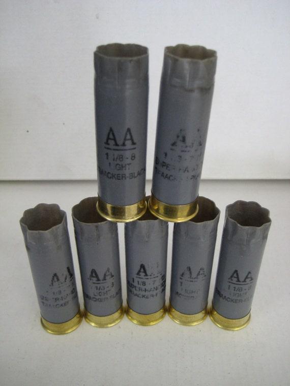 Huge Lot 10 Empty Shotgun Shells/Hulls 12 gauge Winchester AA (LIGHT GREY) Premium Brass 2 3/4 ...