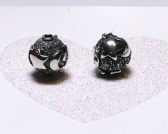 Bali Sterling Silver 10mm Round Moon and Stars Focal Bead #1176 - (1)